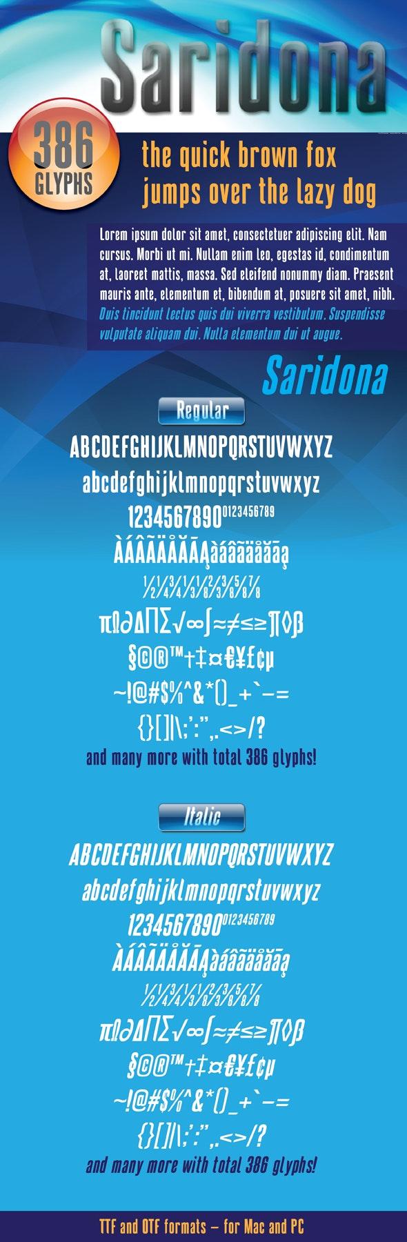 Saridona - Sans-Serif Fonts