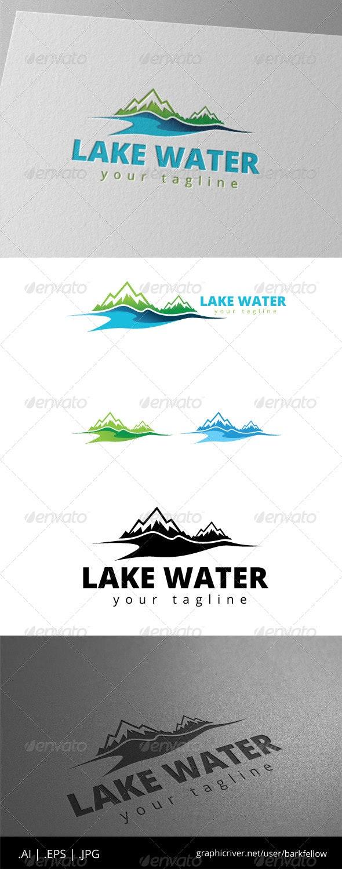 Lake Mountain Nature Logo - Nature Logo Templates