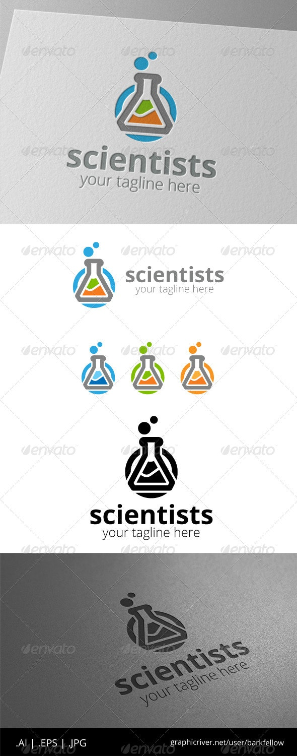 Scientists Test Tube Logo - Objects Logo Templates