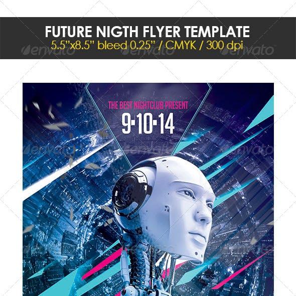 Future Night Flyer Template