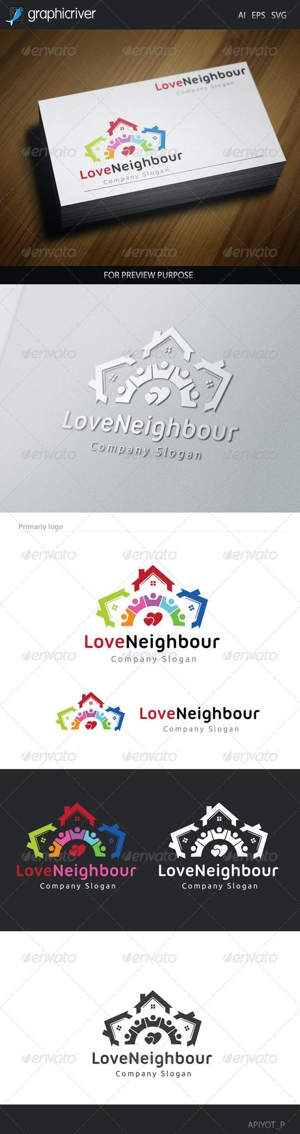 Love Neighbour Logo - Symbols Logo Templates