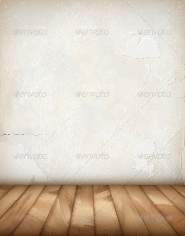 Vector Plaster Wall Wood Floor - Buildings Objects