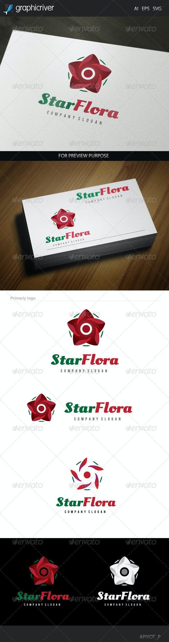 Star Flora Logo - Nature Logo Templates