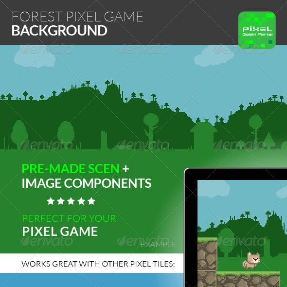 Forest Pixel Game Background