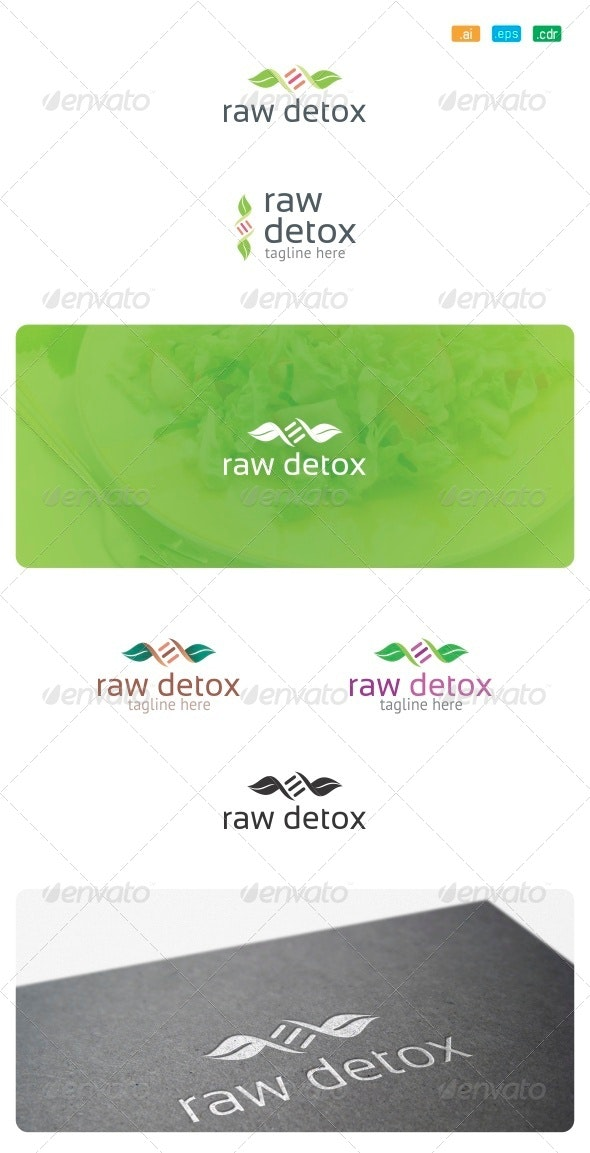 Raw Detox Logo - Food Logo Templates