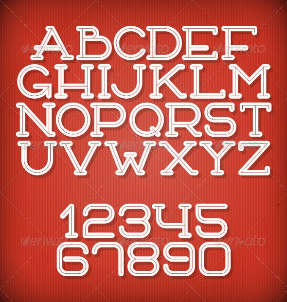 Inline Retro Font - Decorative Symbols Decorative