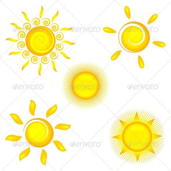 Sun Icons - Decorative Symbols Decorative