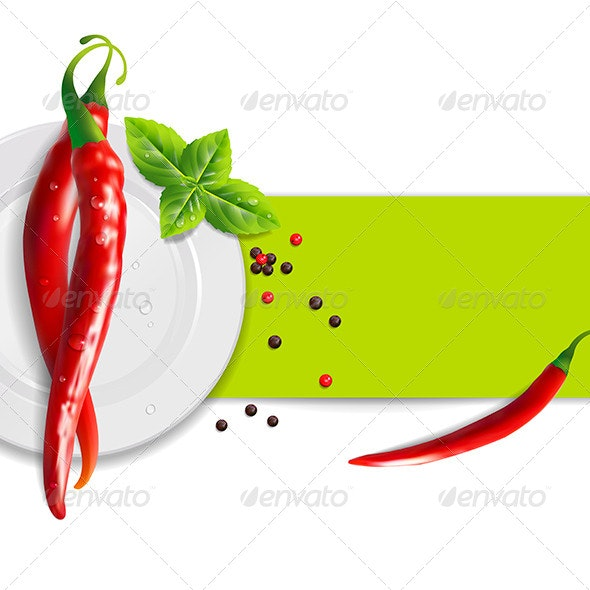 Background of Hot Peppers - Food Objects