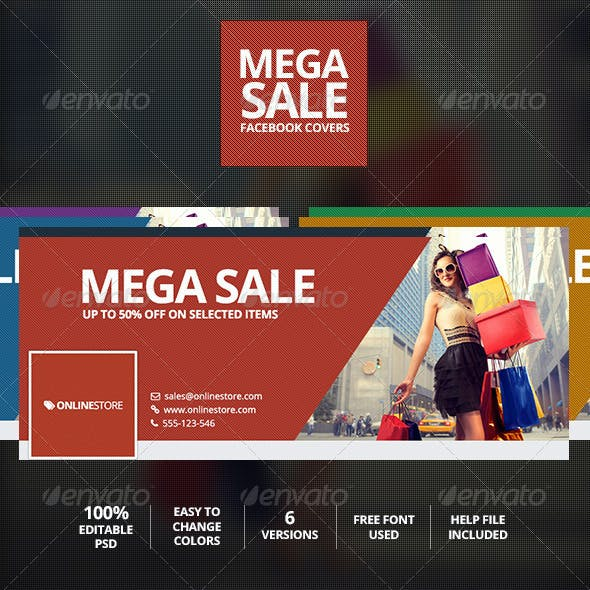 Mega Sale Facebook Timeline Cover