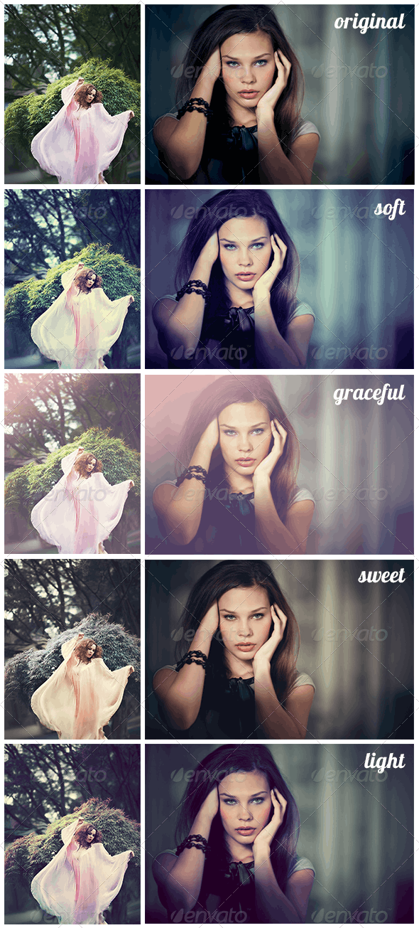 4 Sweet Retoch Add-Ons - Photo Effects Actions