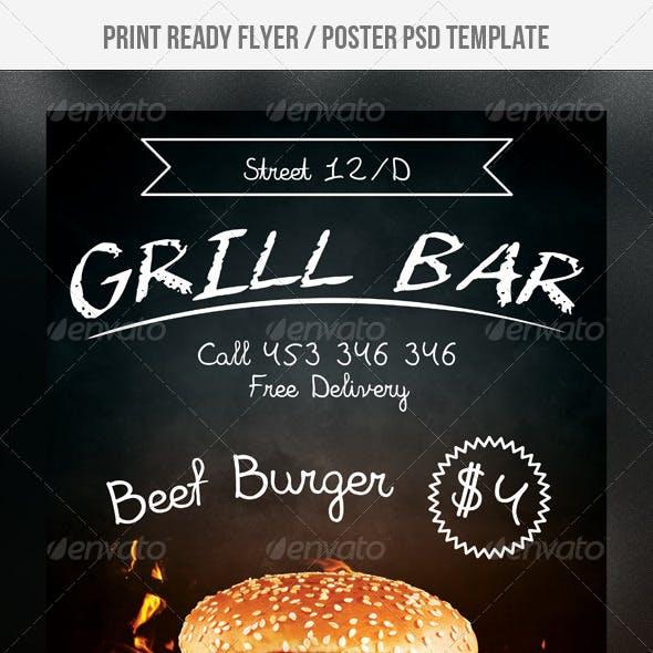 Grill Bar Flyer
