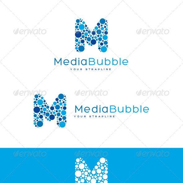 Media Bubble Letter M Logo