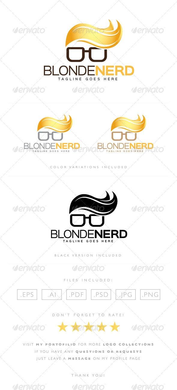 Blonde Nerd Logo - Humans Logo Templates
