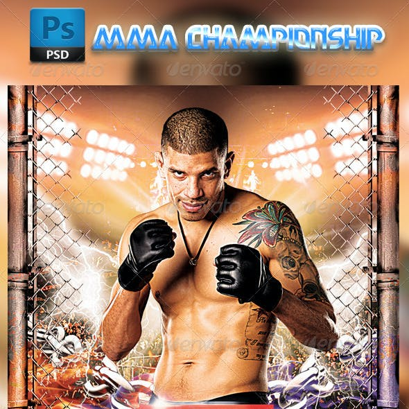 MMA Fighting Flyer Template