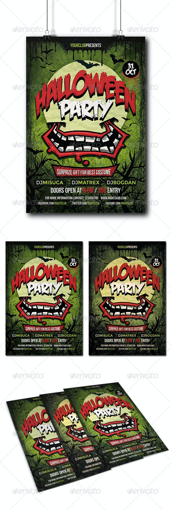 Halloween Party Flyer - Holidays Events