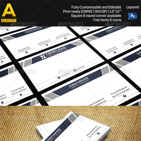 Simple Corporate Business Card AN0470