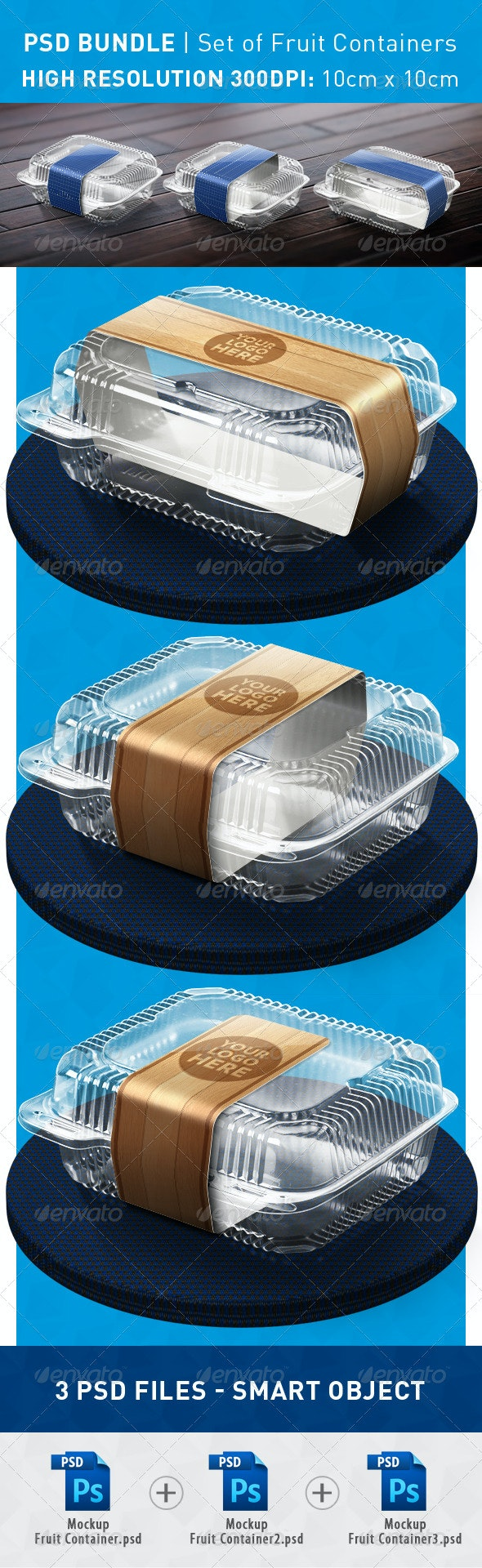 Fruit Container Mockup - Product Mock-Ups Graphics