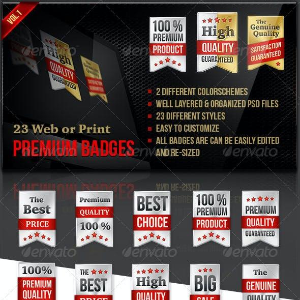 25 Premium Web Badges   Stickers