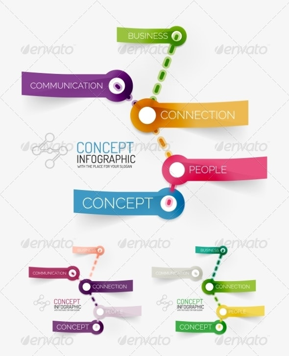 Vector Connection Theme Keyword Infographic - Web Technology