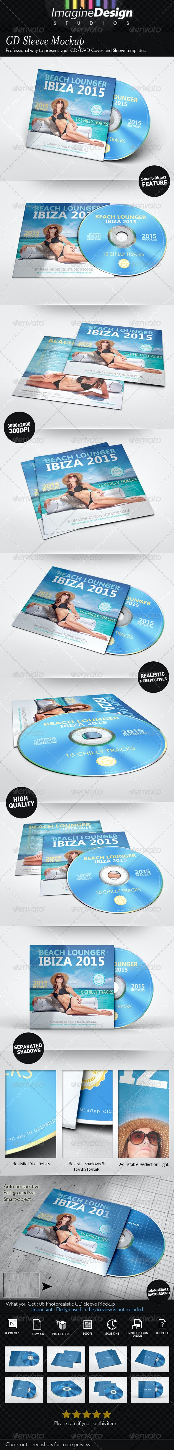 CD Sleeve Mockup - Discs Packaging