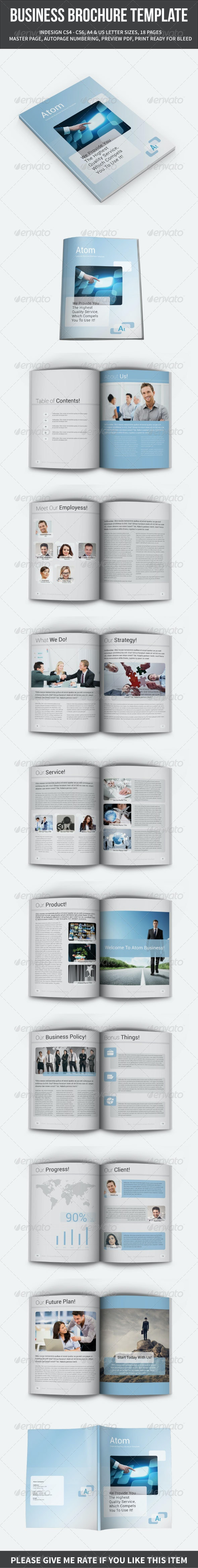 Business Brochure Template A4 and Letter 18 Pages - Corporate Brochures