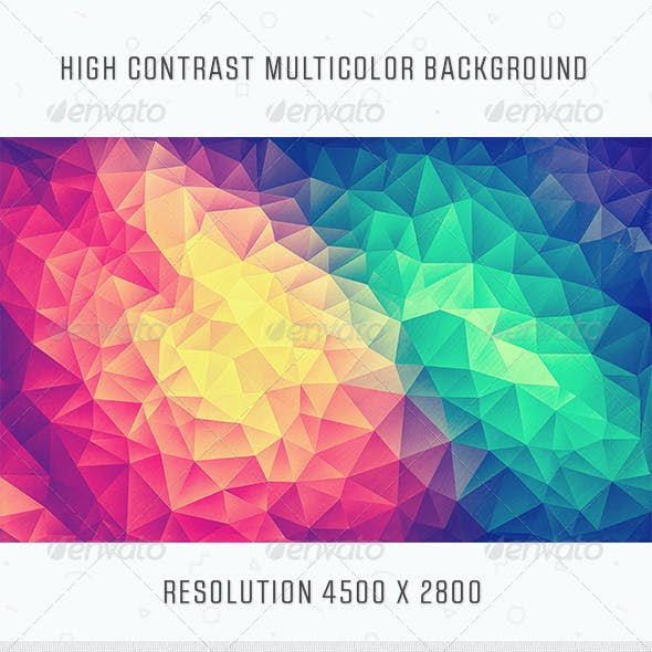 Modern High Contrast Multicolor Polygon Background by