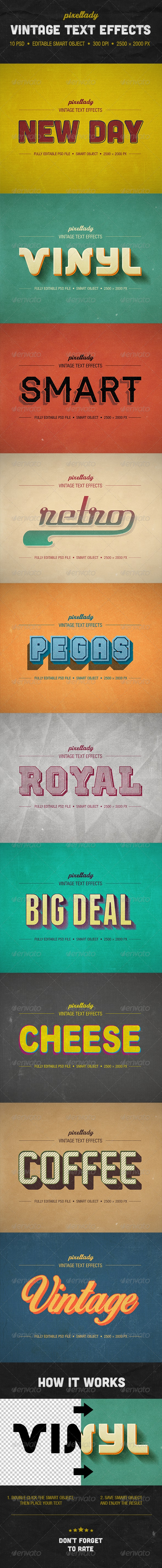 Vintage Text Effects - Text Effects Actions