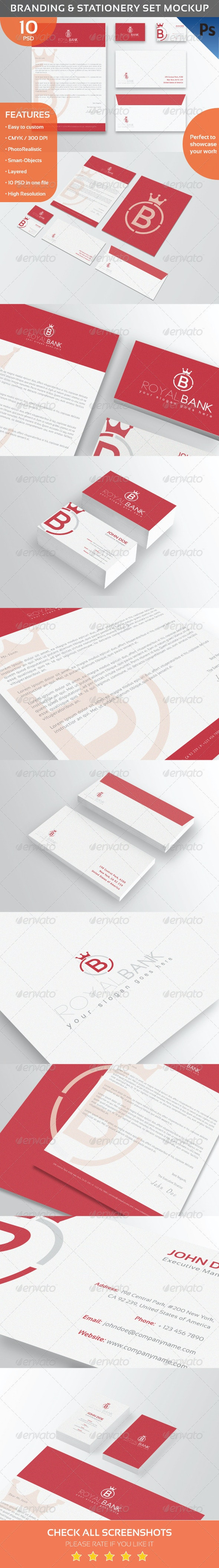 Branding & Stationery Set Mockup - Stationery Print