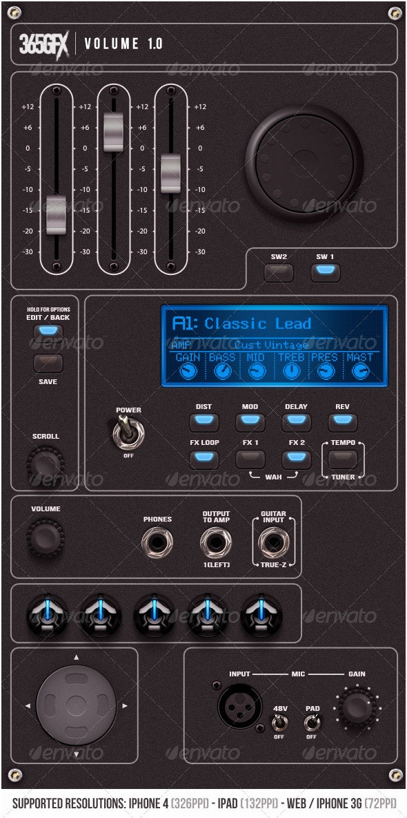 Graphic User Interface Volume 1.0 - Audio - User Interfaces Web Elements