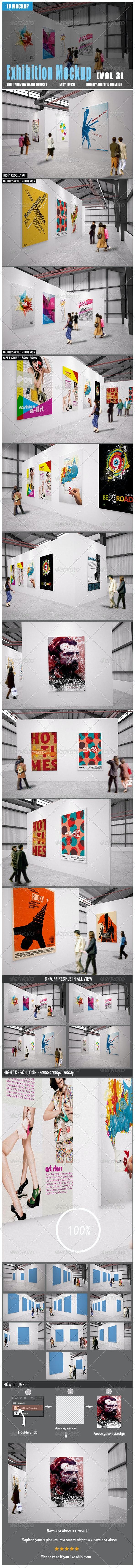 Exhibition Mockup [vol3] - Posters Print