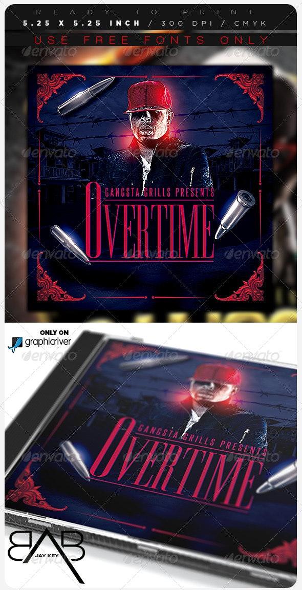 Hip Hop Music Album Template - CD & DVD Artwork Print Templates