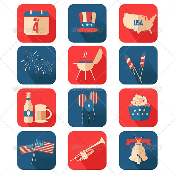 Fourth of July Icons - Decorative Vectors