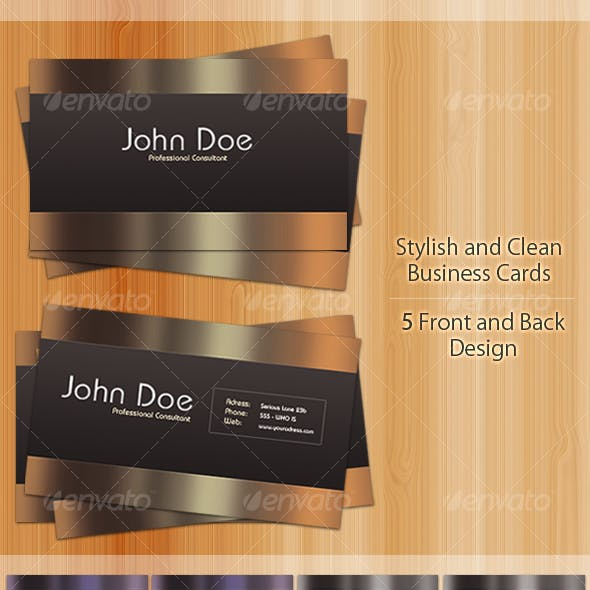 Stylish and Elegant Business Cards | 5 Colors