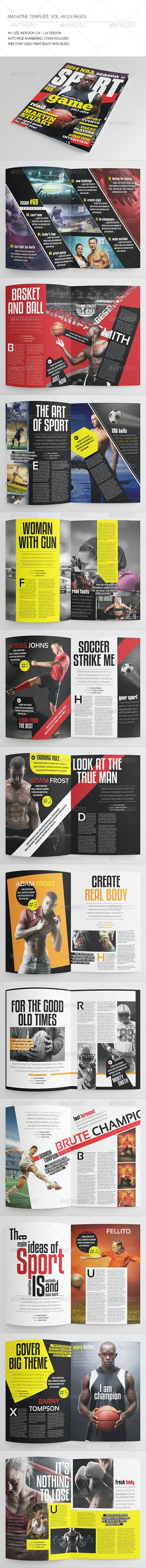 25 Pages Sport Magazine Vol69 - Magazines Print Templates