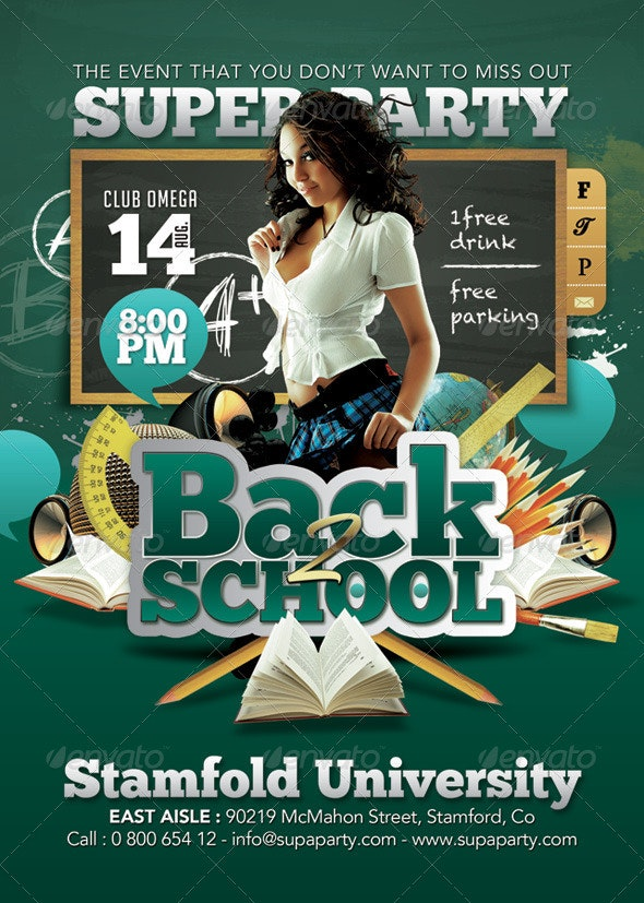 Back To school Super University Party - Clubs & Parties Events