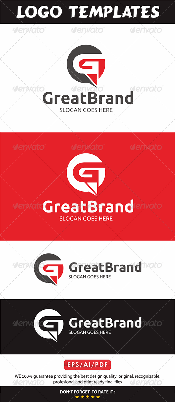Great Brand Logo - G Letter - Letters Logo Templates