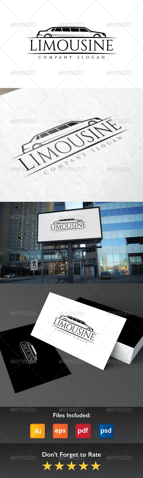 Limousine Logo - Objects Logo Templates