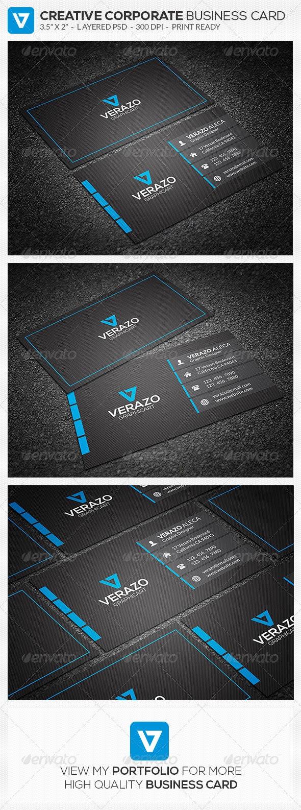 Blue Modern Business Card 54 - Creative Business Cards