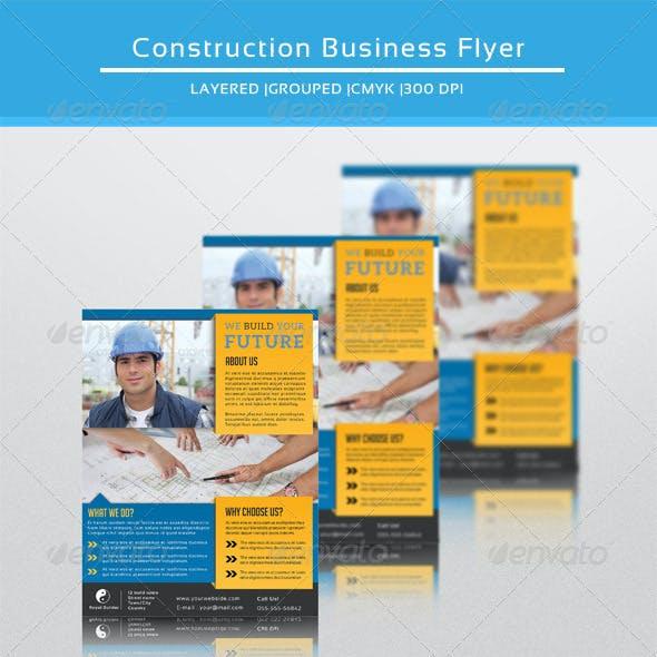 Construction Company Flyer-V104
