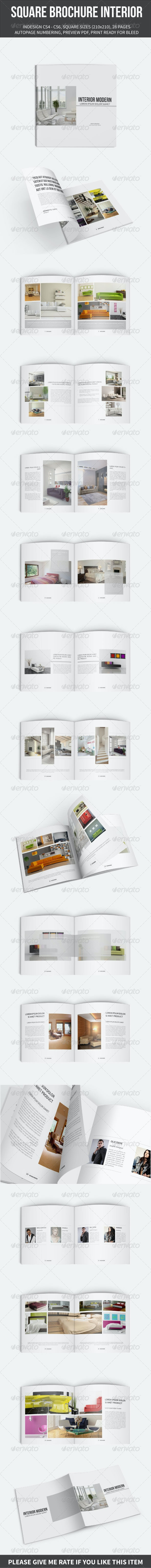 SQUARE BROCHURE INTERIOR TEMPLATE - Brochures Print Templates