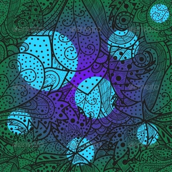 Seamless Wave Hand-Drawn Pattern - Patterns Decorative