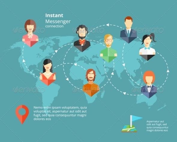 Instant Messenger Concept - Web Technology