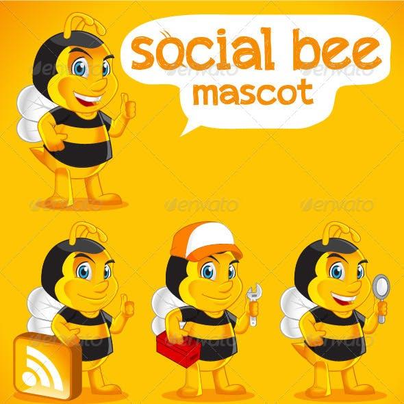 Bee Social Mascot
