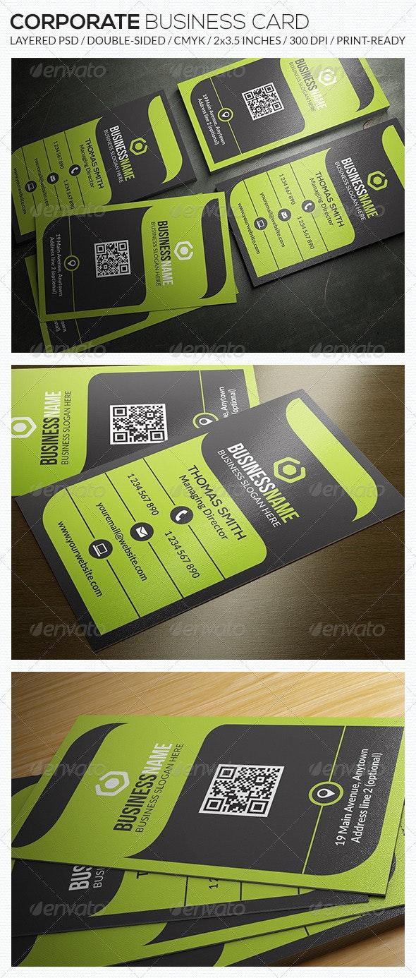Corporate Business Card - RA52 - Corporate Business Cards