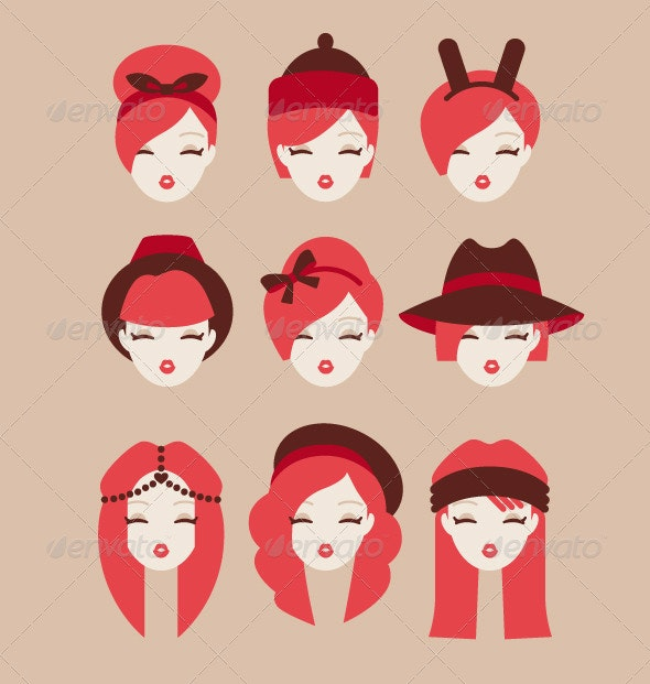 Fashion Girls - People Characters