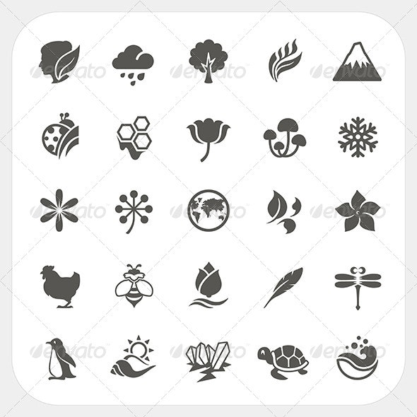 Nature Icons Set - Nature Conceptual