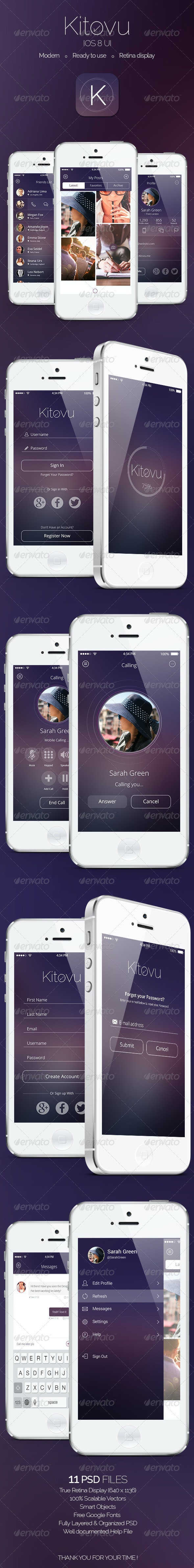 Kitovu IOS 8 App Design - User Interfaces Web Elements