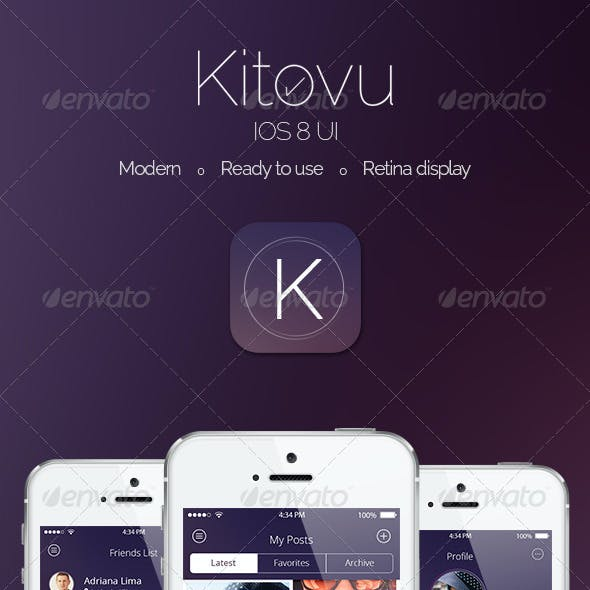 Kitovu IOS 8 App Design