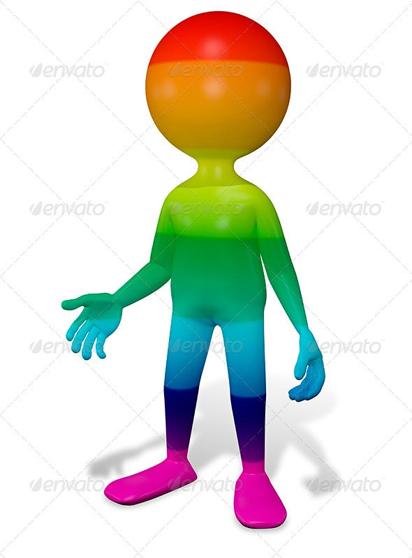 Colorful Man - Characters 3D Renders