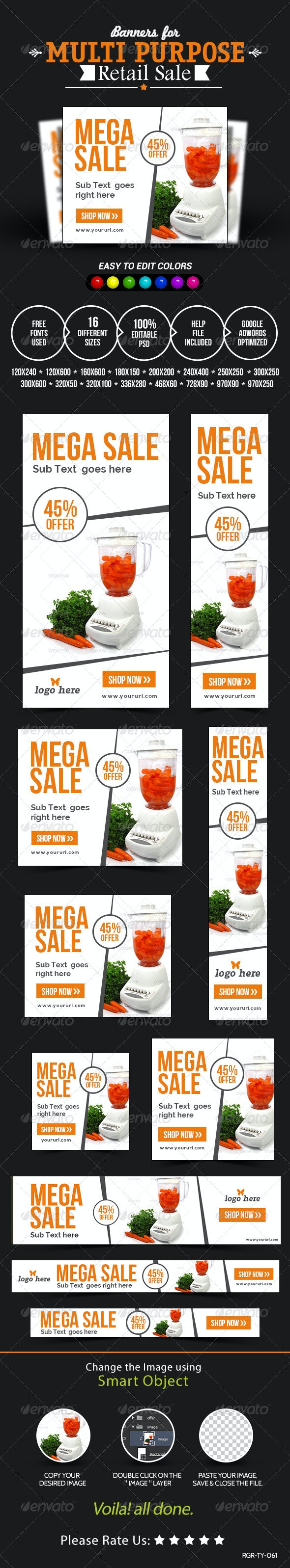 Retail Sale Banners - Banners & Ads Web Elements